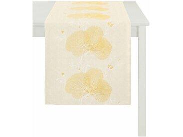 APELT Tischläufer »7903 Loft Meta« (1-tlg), gelb, gelb-weiß