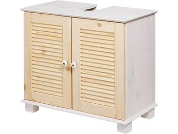 KONIFERA Waschbeckenunterschrank »Sund«, Breite 63 cm, natur, weiß/kieferfarben