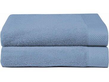 Seahorse Handtücher »Pure«, mit Strukturbordüre, blau, mittelblau - mittelblau