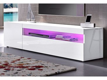 Tecnos Lowboard, Breite 155 cm, weiß, weiß Hochglanz