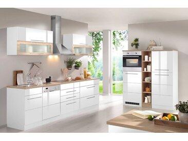 HELD MÖBEL Küchenzeile Wien mit E-Geräten, Breite 440 cm, weiß, ohne Aufbauservice, weiß