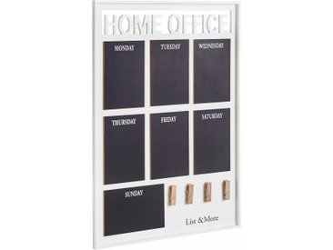 Home affaire Memoboard »Home Office«, weiß, weiß