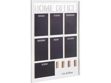 Home affaire Memoboard »Home Office«, weiß, weiß