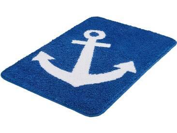Kleine Wolke Badematte »Anchor« , Höhe 12 mm, rutschhemmend beschichtet, fußbodenheizungsgeeignet, blau, 12 mm, royalblau