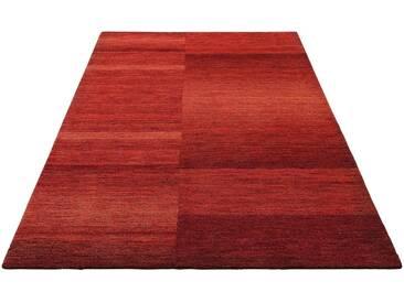 Theko Exklusiv Teppich »Jorun«, rechteckig, Höhe 14 mm, von Hand gearbeitet, rot, 14 mm, rot