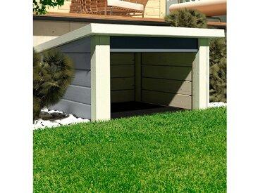 Karibu KARIBU Mähroboter-Garage , BxTxH: 73x77x49 cm, seidengrau, grau, grau