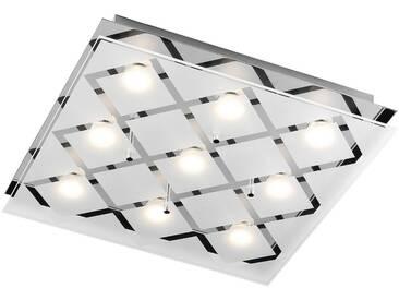 Leuchten Direkt LED Deckenleuchte, 9-flammig, silberfarben, 9 -flg. /, silberfarben
