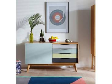 Woodman Sideboard »Hilla«, Breite 130 cm, blau, eiche/dunkelblau