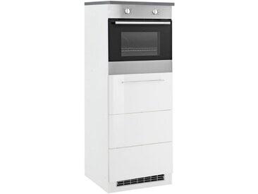 HELD MÖBEL Backofen/Kühlumbauschrank »Trient« 60 cm breit, weiß, Folienbeschichtung, weiß Hochglanz