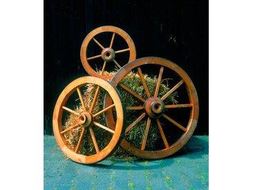 promadino Promadino Wagenrad, groß, braun, 90 cm x 90 cm x 22 cm, braun
