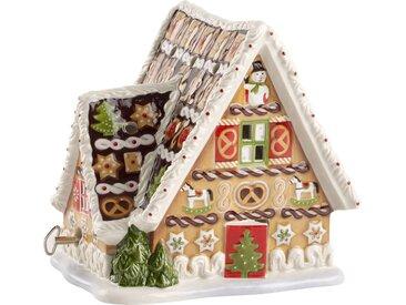 Villeroy & Boch Lebkuchenhaus mit Spieluhr »Christmas Toys«, braun, 16x13x16cm, braun