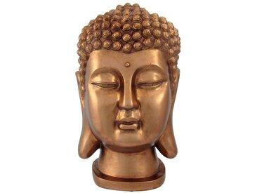 Creativ deco Buddha Kopf, braun, kupfer