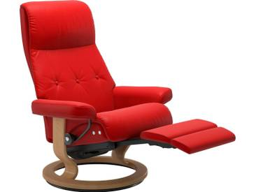 Stressless® Relaxsessel »Sky« mit Classic Base und LegComfort™, Größe L, Gestell naturfarben, rot, chilli red BATICK