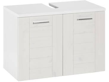 Schildmeyer Waschbeckenunterschrank »Riga«, weiß, weiß-weiß