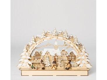 HGD Holz-Glas-Design LED-Lichterbogen Stadt mit Winterkindern