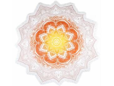 hip Strandtuch »Jayden«, mit orientalischen Mandala, natur, Frotteevelours, beige