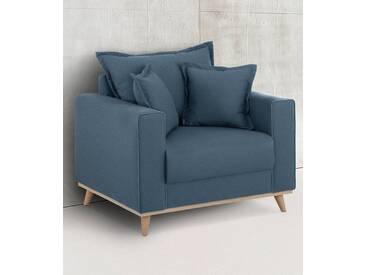 Home affaire Sessel »Edina«, im skandinavischem Stil, blau, blau