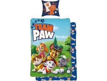 PAW PATROL Kinderbettwäsche »Team Paw«, mit Hunden, blau, 1x 135x200 cm, Renforcé, blau