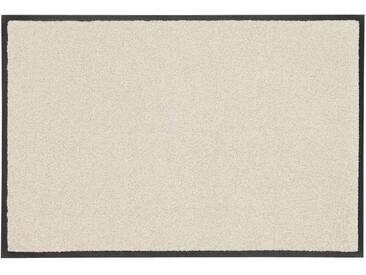 wash+dry by Kleen-Tex Fußmatte »Trend Uni«, rechteckig, Höhe 7 mm, In- und Outdoor geeignet, gelb, 7 mm, champagner