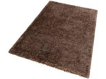 LALEE Hochflor-Teppich »Monaco«, rechteckig, Höhe 45 mm, braun, 45 mm, nougat