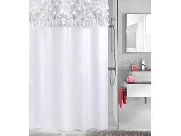Kleine Wolke KLEINE WOLKE Duschvorhang »Falbala«, Breite 180 cm, weiß, weiß