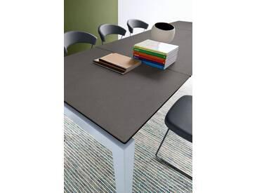 connubia by calligaris Tisch mit Tischplatte aus Keramik »Airport CB/4011«, grau, Metall satiniert, Keramik bleigrau
