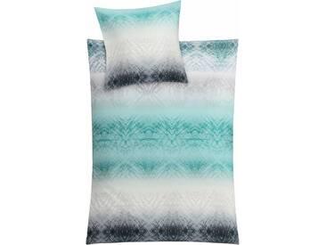 Kleine Wolke Bettwäsche »Vapore«, mit Muster, grün, 1x 155x220 cm, Mako-Satin, petrol