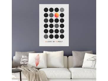 Posterlounge Wandbild - Elisabeth Fredriksson »Be You«, weiß, Alu-Dibond, 70 x 100 cm, weiß