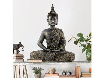 Bilderwelten Wandtattoo »Zen Buddha Stein«, grau, Grau
