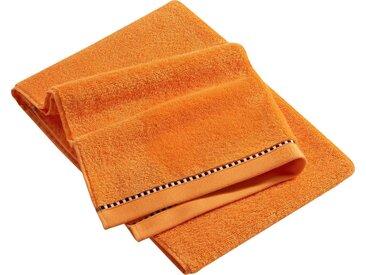 Esprit Handtücher »Box Solid«, mit Bordüre, orange, mandarin