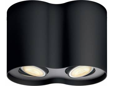 Philips Hue LED Deckenspot »Pillar«, 2-flammig, Smart Home, schwarz, 2 -flg. /, schwarz