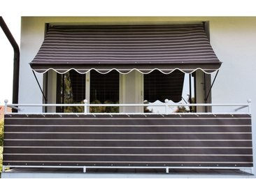 Angerer Freizeitmöbel ANGERER FREIZEITMÖBEL Balkonsichtschutz Meterware, braun/weiß, H: 90 cm, braun, 90 cm, braun