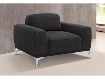 Guido Maria Kretschmer Home&Living GMK Home & Living Sessel »Tea«, mit Metallfüßen, schwarz, schwarz