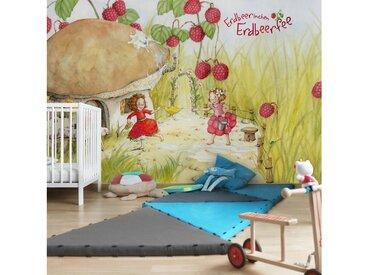 Bilderwelten Vliestapete Premium Breit »Erdbeerinchen Erdbeerfee«, bunt, 190x288 cm, Farbig