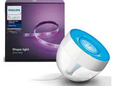 Philips Hue LED Tischleuchte »IRIS + LightStrip/Base 200 cm«, 2-flammig, smartes LED-Lichtsystem mit App-Steuerung, weiß, 2 -flg. /, weiß
