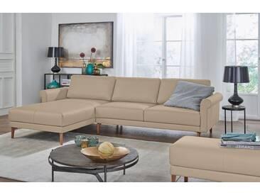 Hülsta Sofa hülsta sofa Polsterecke »hs.450« im modernen Landhausstil, Breite 282 cm, natur, Recamiere links, beige