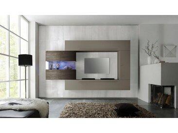 LC Wohnwand »Line«, (Set, 4-tlg), natur, beige matt/eichefarben wenge