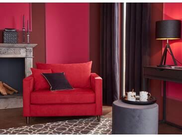 Guido Maria Kretschmer Home&Living GMK Home & Living Sessel Loveseat »Renesse«, lose Kissen, Keder an Sitzkissen, rot, rot