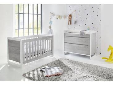 Pinolino® Pinolino Babyzimmer Sparset »Curve« breit (2-tlg.), weiß, weiß/grau