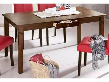 Home affaire Tisch, braun, Breite 160 cm, mit Schublade, kolonialfarben