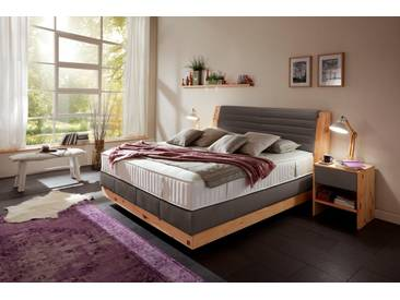 ADA premium Boxspringbett »Chalet«, Grand Comfort TF 1000 PM, braun, 7-Zonen-Tonnentaschenfederkern-Partnermatratze H2/H3, braun RLN 34