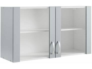 wiho Küchen Glashängeschrank »Amrum«, grau, hellgrau