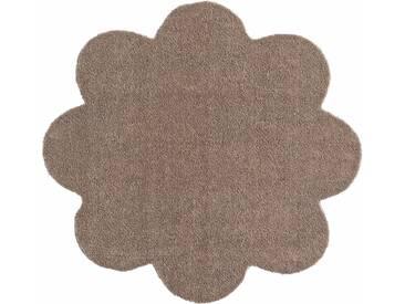 HANSE Home Fußmatte »Deko Soft«, blumenförmig, Höhe 7 mm, saugfähig, waschbar, braun, 7 mm, taupe
