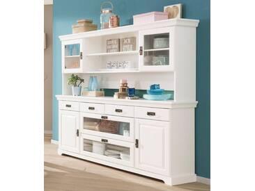 Home affaire Büffetaufsatz, Breite 145 bzw. 180, Höhe 85 cm, weiß, Breite 180 cm, weiß