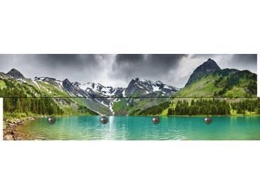 Artland Wandgarderobe »Dmitry Pichugin: Bergsee«, grün, 30 x 90 x 2,8 cm, Grün