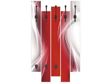 Artland Wandgarderobe »Designus: Kreatives Element Rot«, rot, 114 x 68 x 2,8 cm, Rot