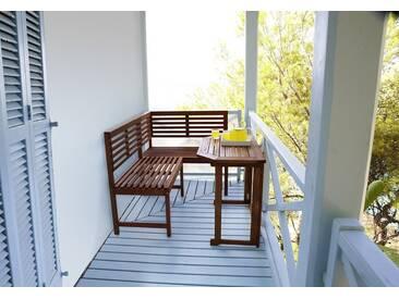 MERXX Gartentisch »Holz«, Eukalyptusholz, klappbar, 90x50 cm, braun, braun, 90 cm x 50 cm, braun