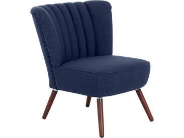 Max Winzer® Stuhlsessel im Retrostil »Aspen«, blau, blau