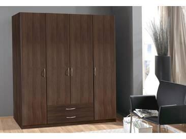 Wimex Kleiderschrank »Sprint«, braun, 4-türig, Höhe 175 cm, Ohne Spiegel, Ohne Spiegel, Columbia nussbaumfarben
