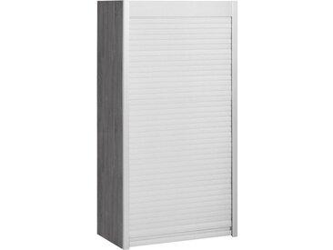 HELD MÖBEL Jalousieschrank-Aufsatzschrank »Lou«, Breite 60 cm, grau, grafit/edelstahlfarben